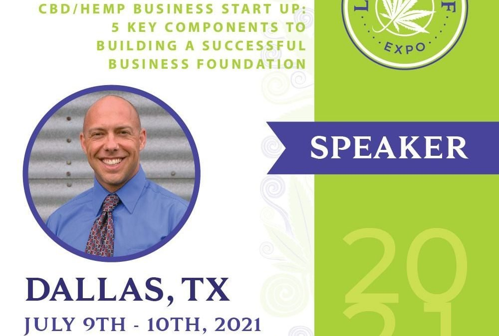 Speaking at the Dallas Lucky Leaf Expo on CBD/Hemp Business Start Up 101