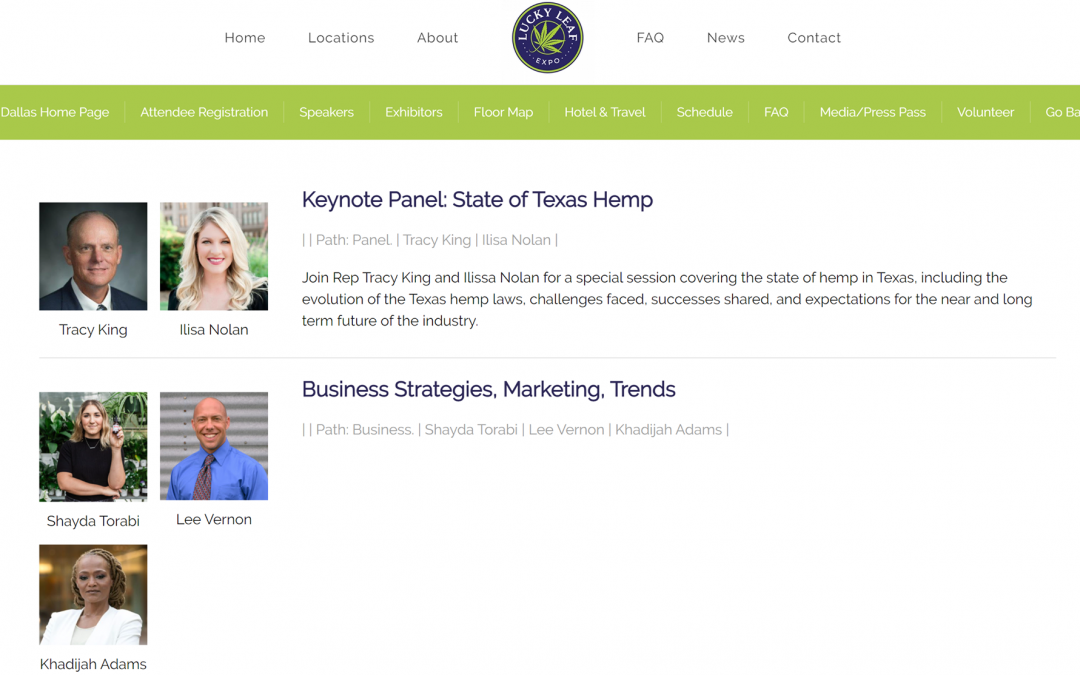 Added to the Lucky Leaf Expo Business Panel for Dallas!